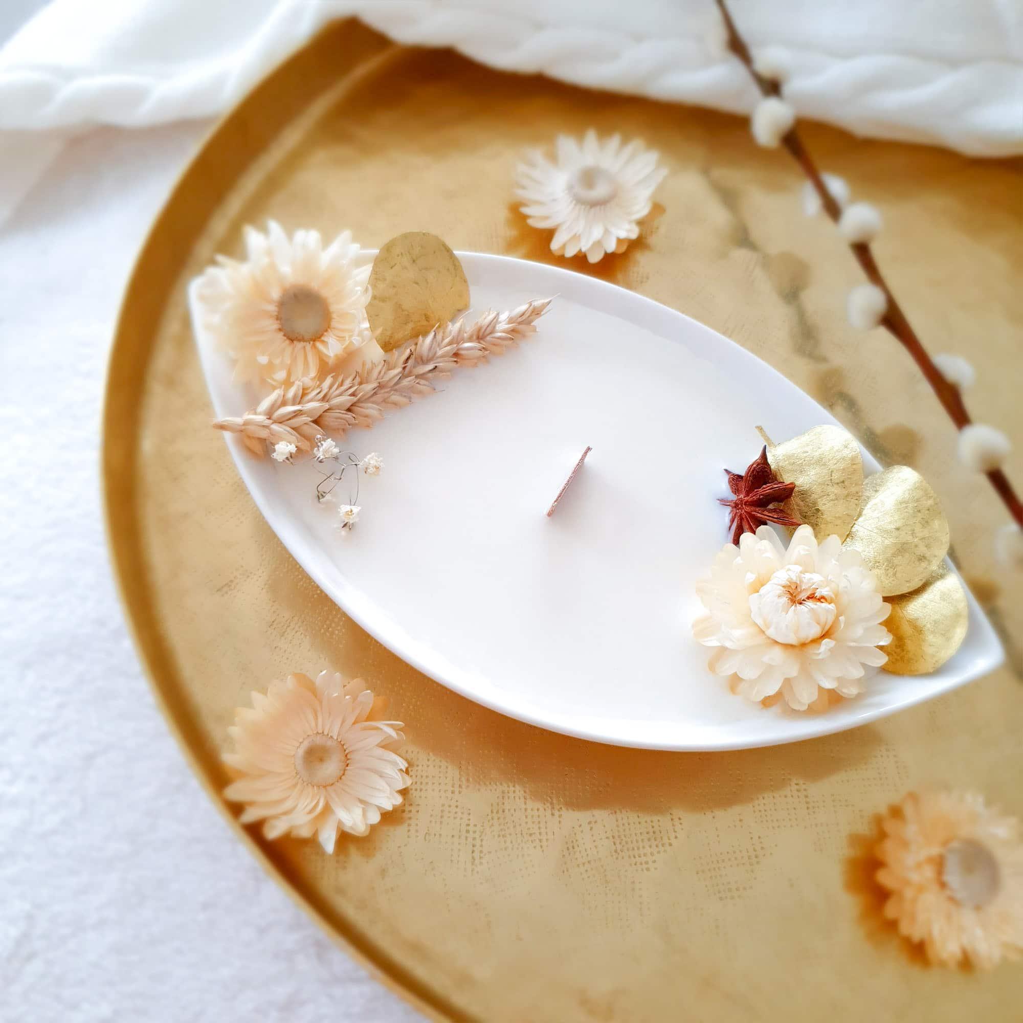 Onigri- bougie-fleurie